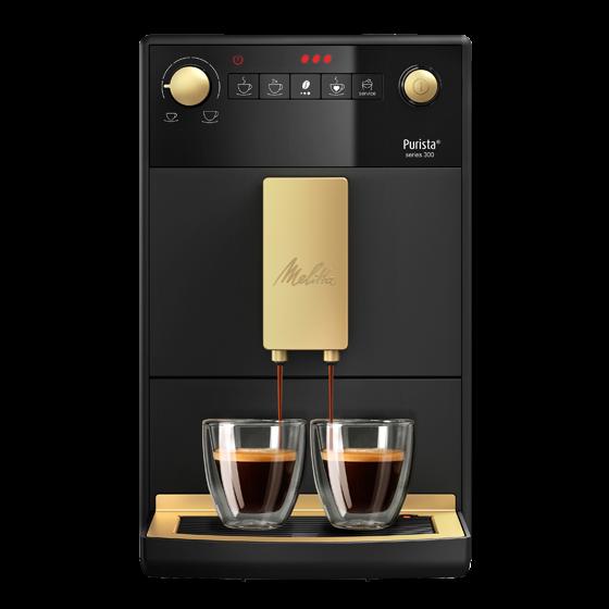 Purista® Series 300 Jubilee Edition, Kaffeevollautomat, schwarz-gold
