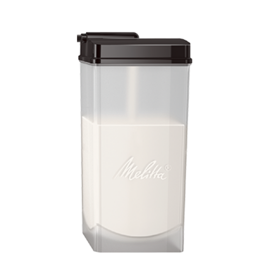 Milchbehälter transparent, 1 Liter, komplett
