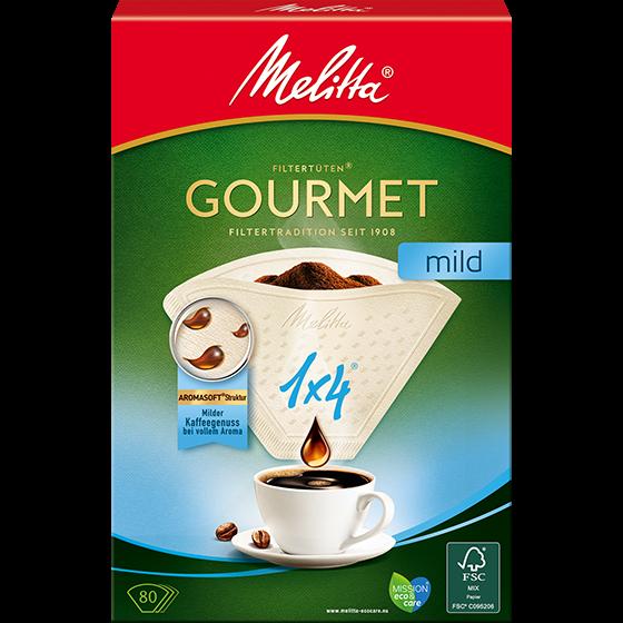 Melitta Gourmet® Filtertüten® Mild, 1x4®