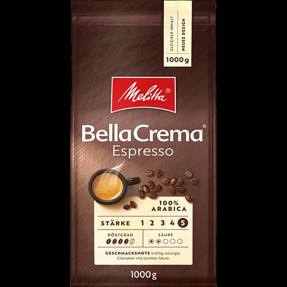 Melitta® BellaCrema® Espresso, Kaffeebohnen, 1000g