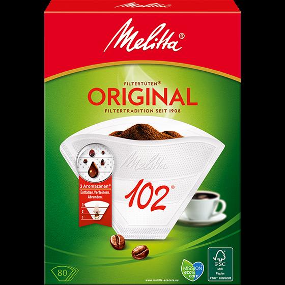 Melitta® Filtertüten® Original, 102®, weiß