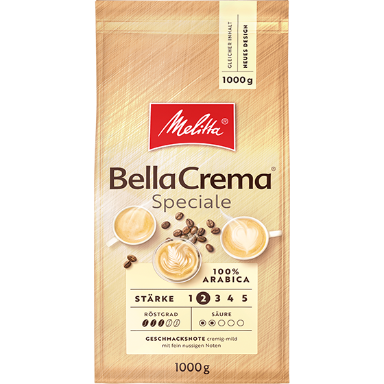 Melitta® BellaCrema® Speciale, Kaffeebohnen, 1000g