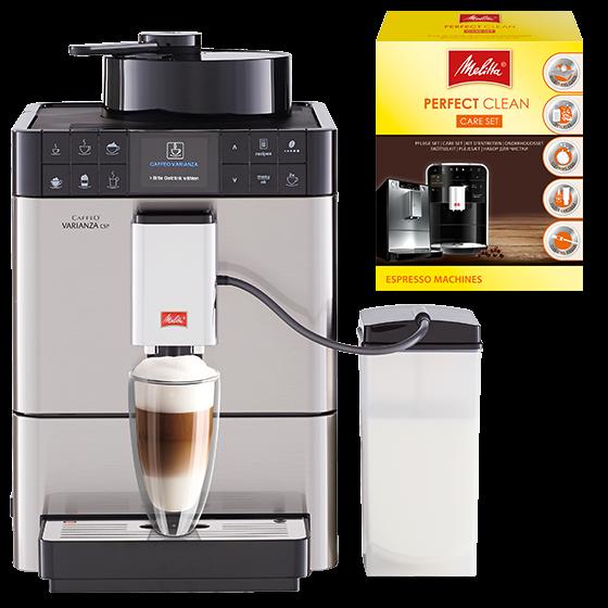 Caffeo® Varianza® CSP Kaffeevollautomat Edelstahl (2.Wahl) Aktionsset
