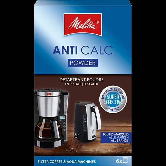 Anti Calc Pulver für Filterkaffeemaschinen und Wasserkocher