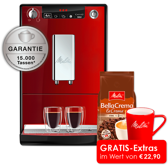 Caffeo® Solo® Kaffeevollautomat, Chili-red